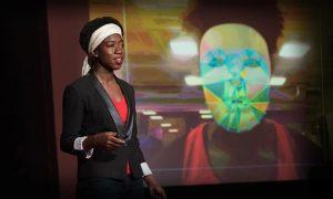 Joy Buolamwini speaking at TEDx